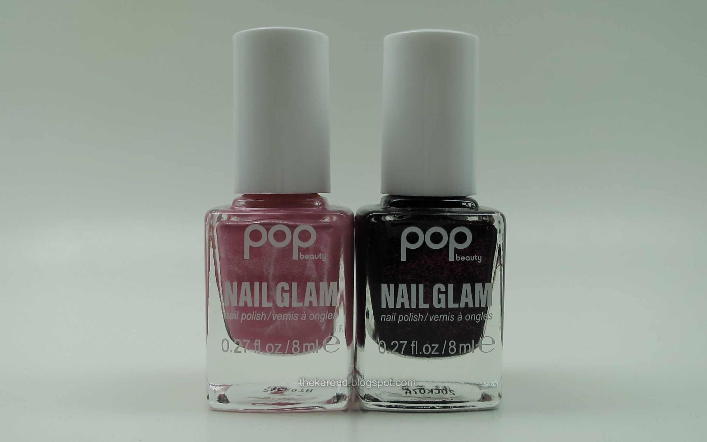 Pop Beauty Nail Glam ZZZ Pink and Black Cherry