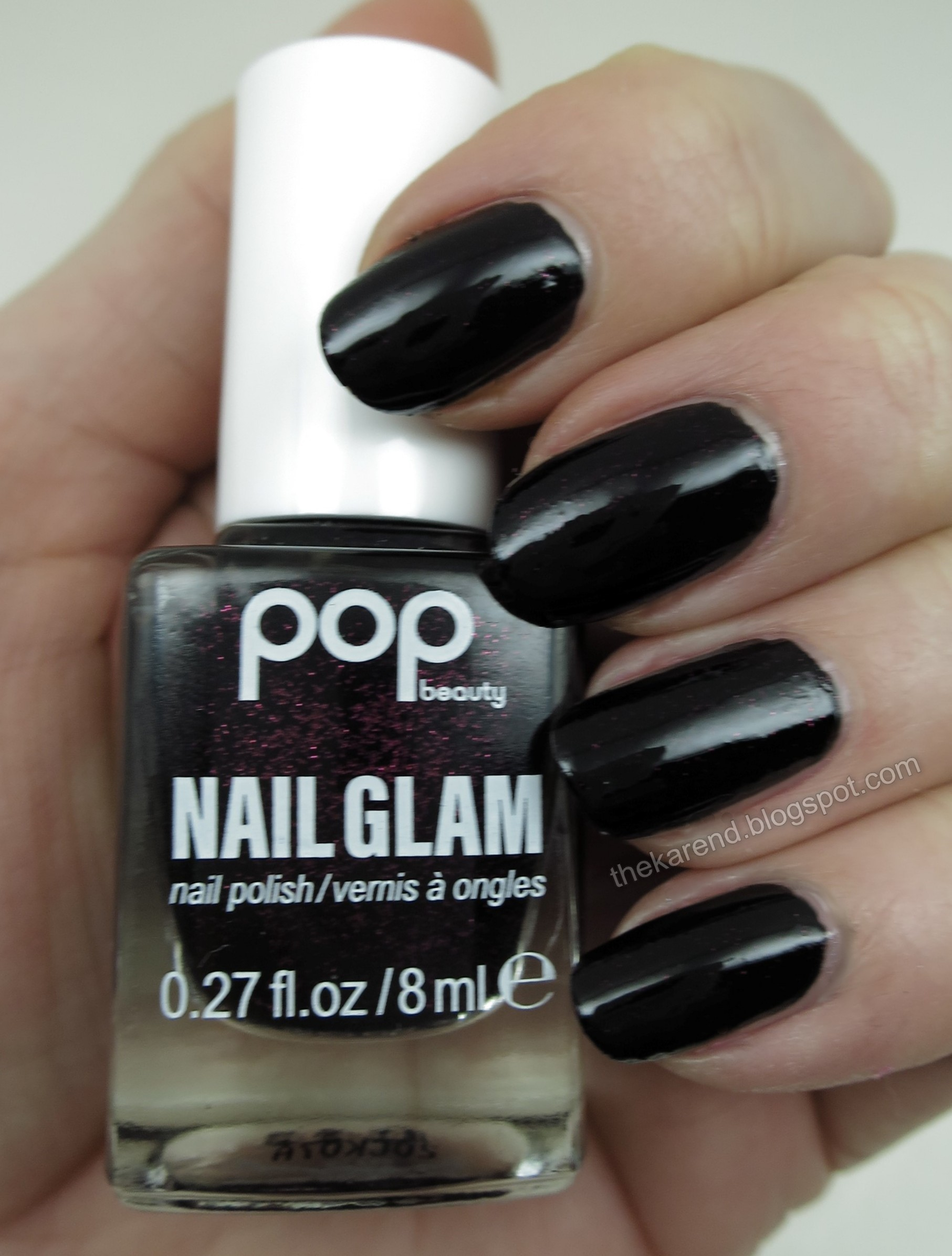 Pop Beauty Nail Glam Black Cherry